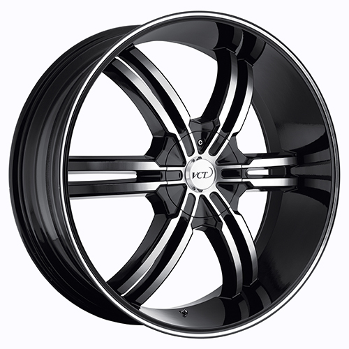 VCT Wheels Torino Black/Machined