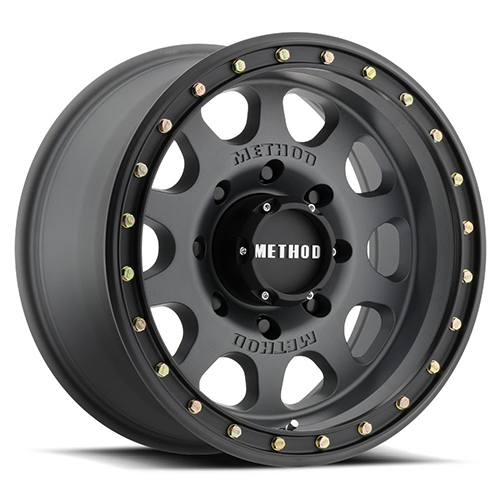 Method Race Wheels Vex Titanium with Black Street Loc