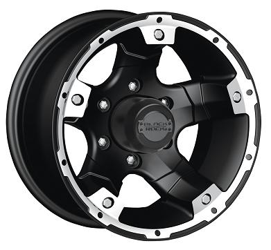 Black Rock Wheels Viper Alloy Matte Black Machined