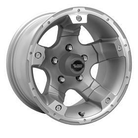 Black Rock Wheels Viper Alloy Tungsten Silver Machined