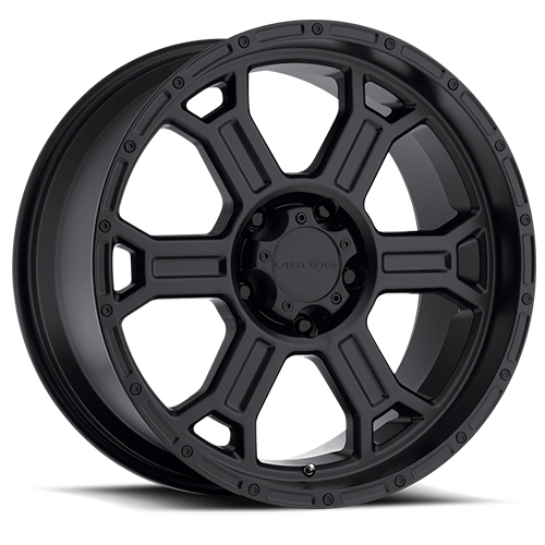 Vision Wheels 372 Raptor Matte Black