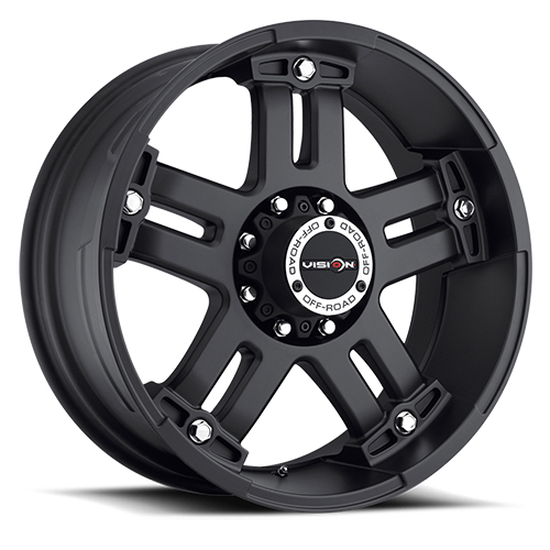 Vision Wheels 394 Warlord Matte Black