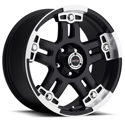Vision Wheels 394 Warlord Matte Black Machined