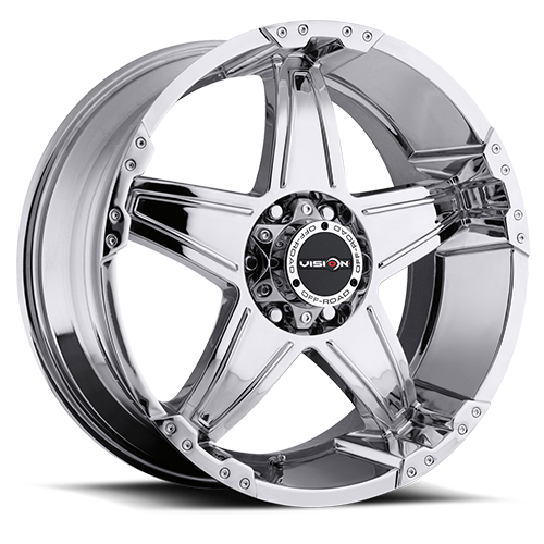 Vision Wheels 395 Wizard Phantom Chrome