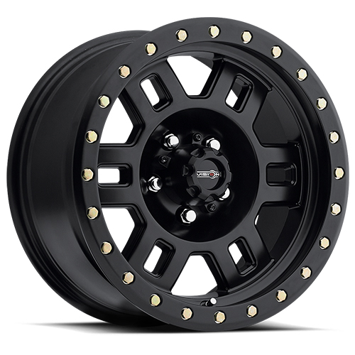 16x8 Vision Wheels 398 Manx Matte Black