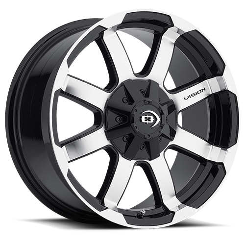 Vision Wheels 413 Valor Gloss Black Machined Face
