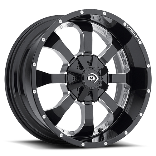 Vision Wheels 420 Locker Gloss Black Milled Spoke