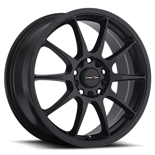 Vision Wheels 425 Bane Matte Black