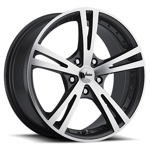 Vision Wheels 463 Xcite Gunmetal Machine Face