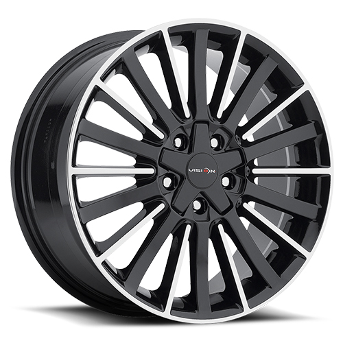 Vision Wheels 466 Conduit Gloss Black Machined Face