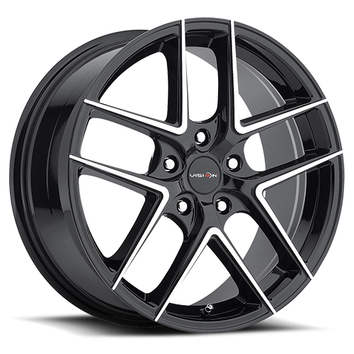 Vision Wheels 467 Mantis Gloss Black Machined Face