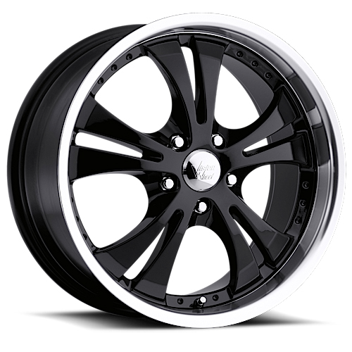 Vision Wheels 539 Shockwave Gloss Black Machined Lip