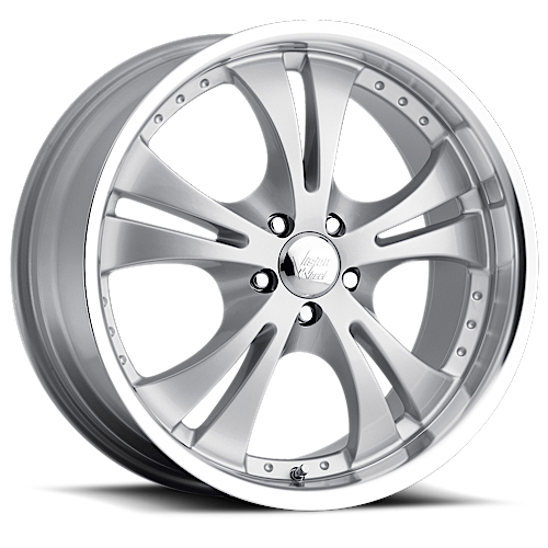 Vision Wheels 539 Shockwave Silver Machined Lip