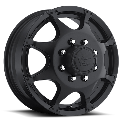 Vision Wheels 715 Crazy Eight Matte Black Front