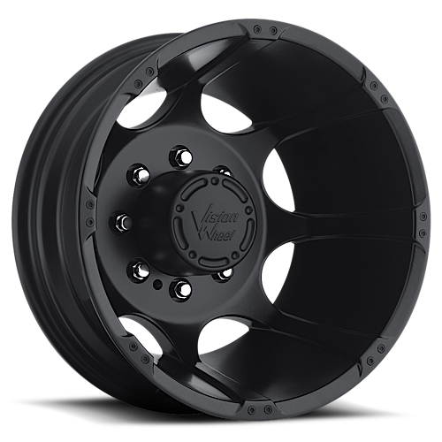 Vision Wheels 715 Crazy Eight Matte Black Rear