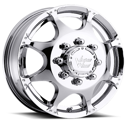 Vision Wheels 715 Crazy Eight Chrome Front
