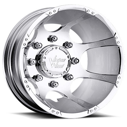 Vision Wheels 715 Crazy Eight Chrome Rear
