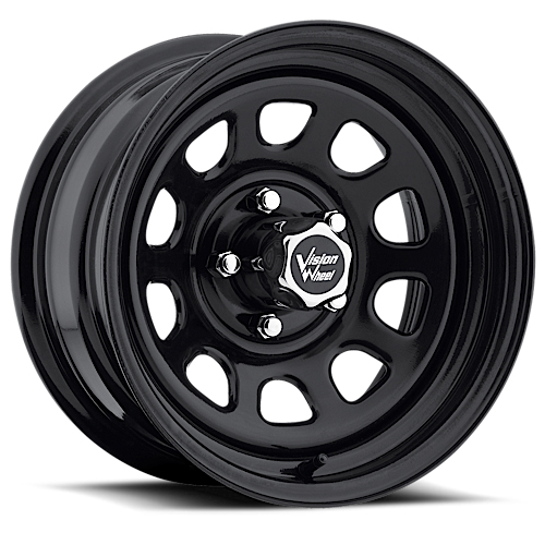 16x8 Vision Wheels 84 Vision Black