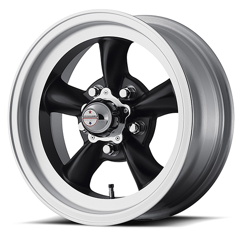 American Racing Wheels VN105  Torq Thrust D Satin Black With Machined Lip