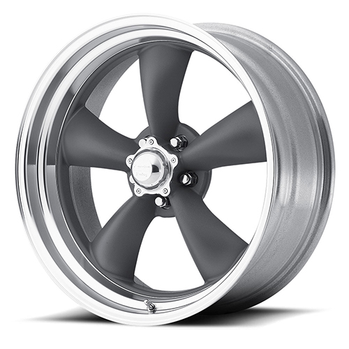 American Racing Wheels VN215  Classic Torq Thrust II 1 Pc Mag Gray Center Polished Barrel