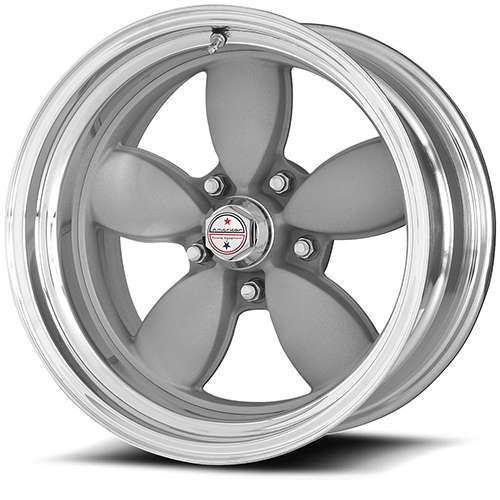 American Racing Wheels VN402  Classic 200S 2- Piece Vintage Silver Center Polished Rim
