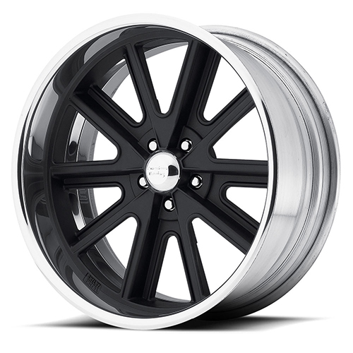 American Racing Wheels VN407  Shelby Cobra 2-Piece Hot Rod Black Center Polished Barrel