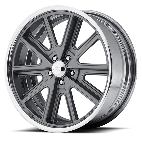 American Racing Wheels VN407  Shelby Cobra 2- Piece Mag Gray Center Polished Barrel