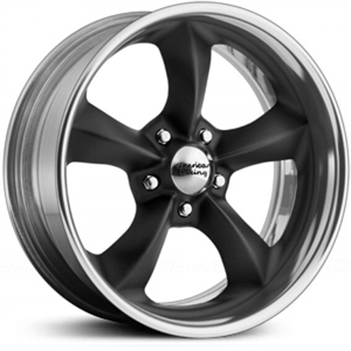 American Racing Wheels VN425  Torq Thrust SL Hot Rod Black with Polished Rim