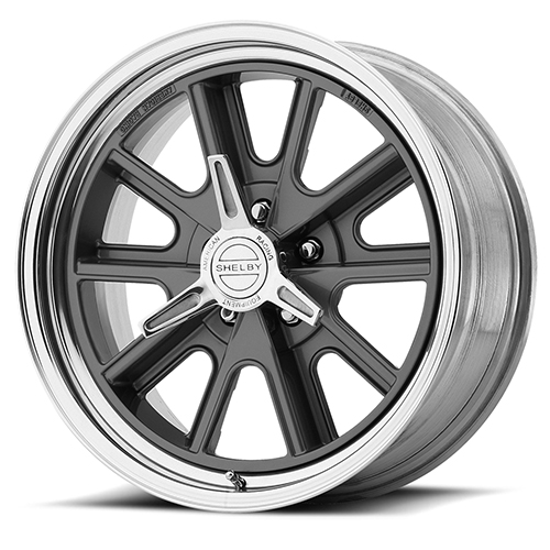 American Racing Wheels VN427  Shelby Cobra 2- Piece Mag Gray Center Polished Rim