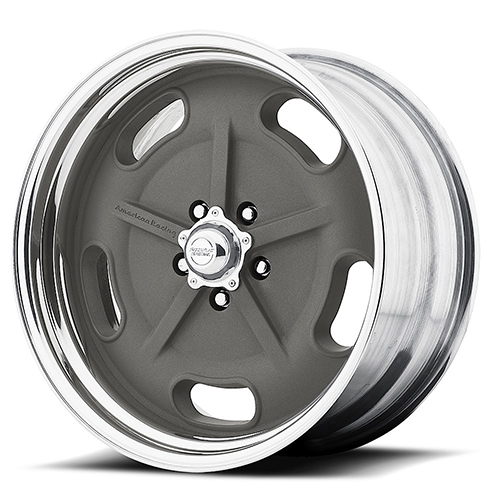 American Racing Wheels VN470  Salt Flat Mag Gray Center Polished Barrel