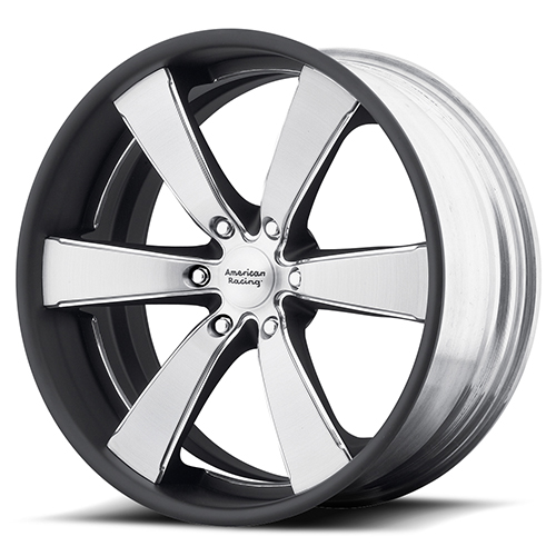 American Racing Wheels VN476 Slate 2- Piece Brushed Center with Matte Black Rim