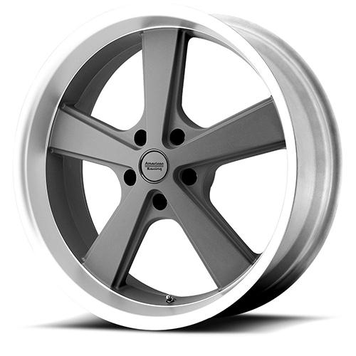 American Racing Wheels VN701  Nova Mag Gray Machined Lip