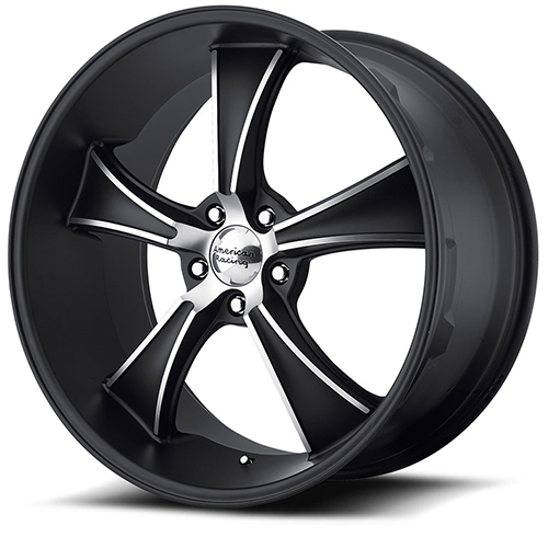 American Racing Wheels VN805  Blvd Satin Black With Machined Face