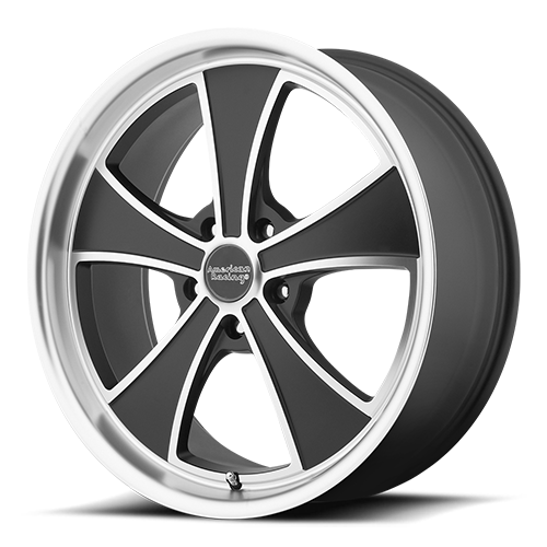 American Racing Wheels VN807 Mach 5 Satin Black Machined