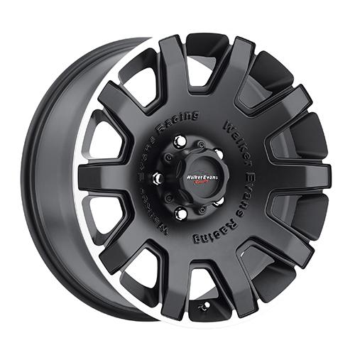 Walker Evans Wheels 505 Bullet-Proof Satin Black w/ Diamond Cut Accents