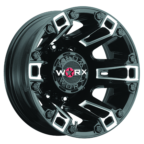 Worx Offroad Wheels 803 Beast Dually Gloss Black with Milled Accents