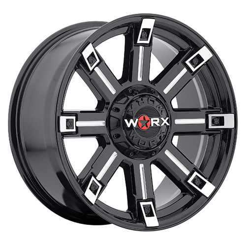 Worx Offroad Wheels 806 Triton Gloss Black with Milled Accents