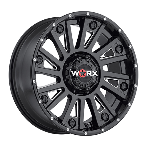 Worx Offroad Wheels 810 Sentry Gloss Black with Milled Accents