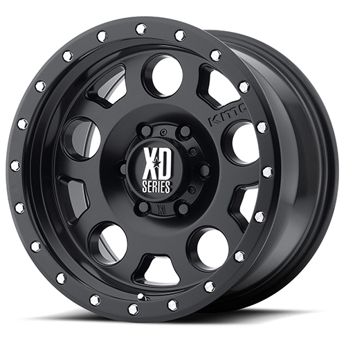 XD Series by KMC Wheels XD126 Enduro Pro Satin Black With Reinforcing Ring