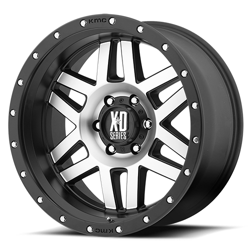 XD Series by KMC Wheels XD128 Machete Machined Face With Black Reinforcing Ring