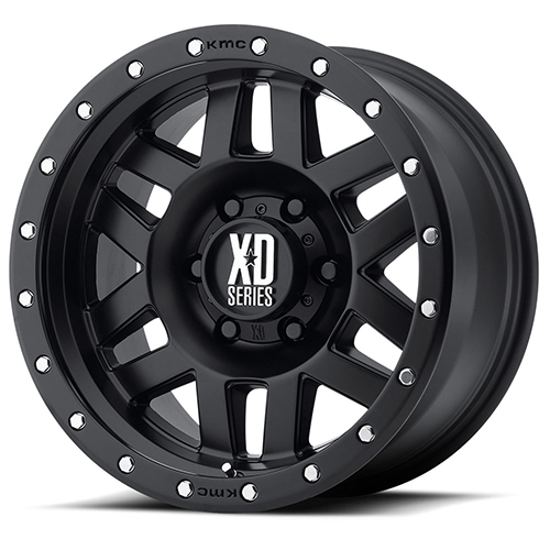XD Series by KMC Wheels XD128 Machete Satin Black With Reinforcing Ring