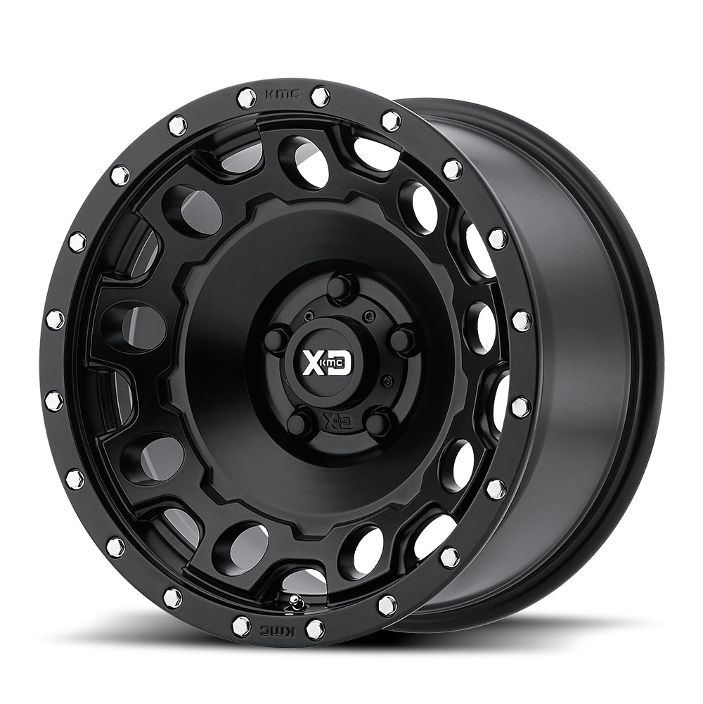 XD Series by KMC Wheels XD129 Holeshot Satin Black