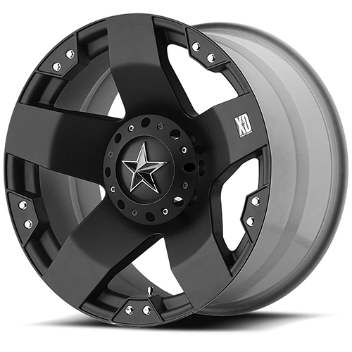 20x8.5 Rockstar by KMC Wheels XD775 Rockstar Matte Black