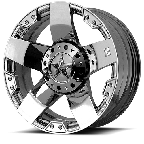 20x8.5 Rockstar by KMC Wheels XD775 Rockstar Chrome Plated