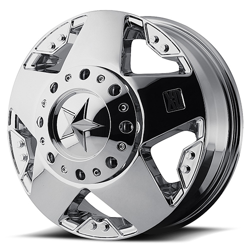 16x6 Rockstar by KMC Wheels XD775 Rockstar Dually Chrome Plated