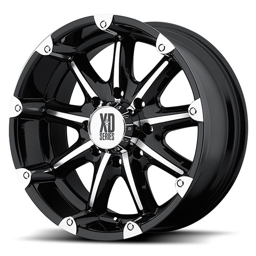 XD Series by KMC Wheels XD779  Badlands Gloss Black Machined