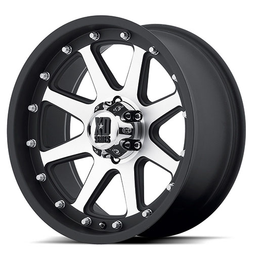 XD Series by KMC Wheels XD798  Addict Matte Black Machined