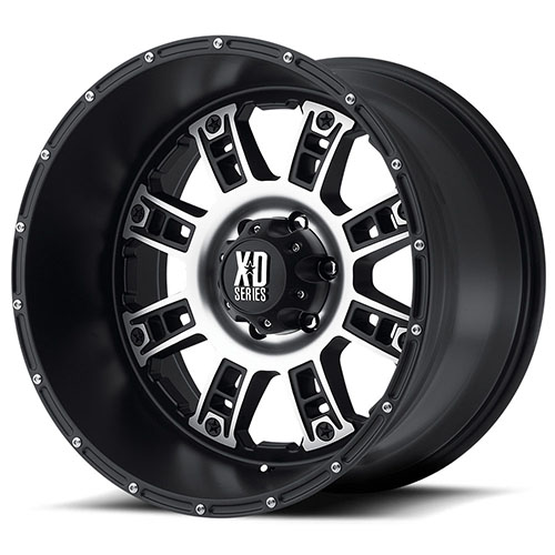 XD Series by KMC Wheels XD809  Riot Matte Black Machined