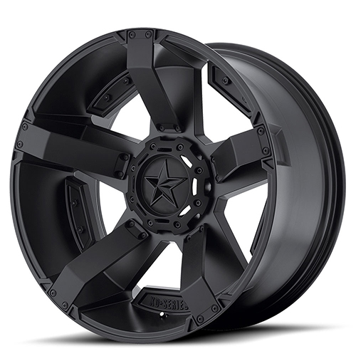 17x8 Rockstar by KMC Wheels XD811 Rockstar II Satin Black With Accents