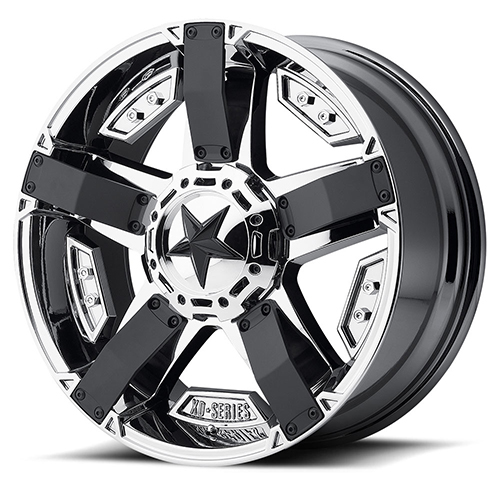 17x9 Rockstar by KMC Wheels XD811 Rockstar II PVD with Matte Black Accents